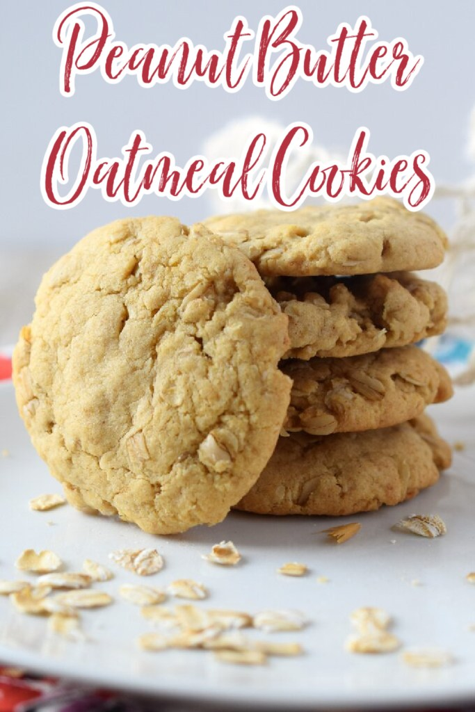 Peanut Butter Oatmeal Cookies – The perfect combination of a peanut butter cookie and an oatmeal cookie! Easy to make and so tasty! Peanut Butter Oatmeal Cookies | Peanut Butter Cookies | Oatmeal Cookies