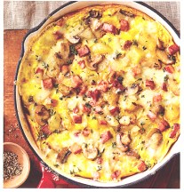 Potato, Ham and Mushroom Frittata