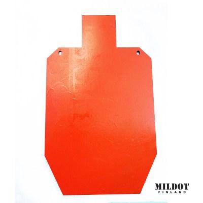 Metallimaalitaulu: SRA-taulu 100% koko – 12mm – MILDOT