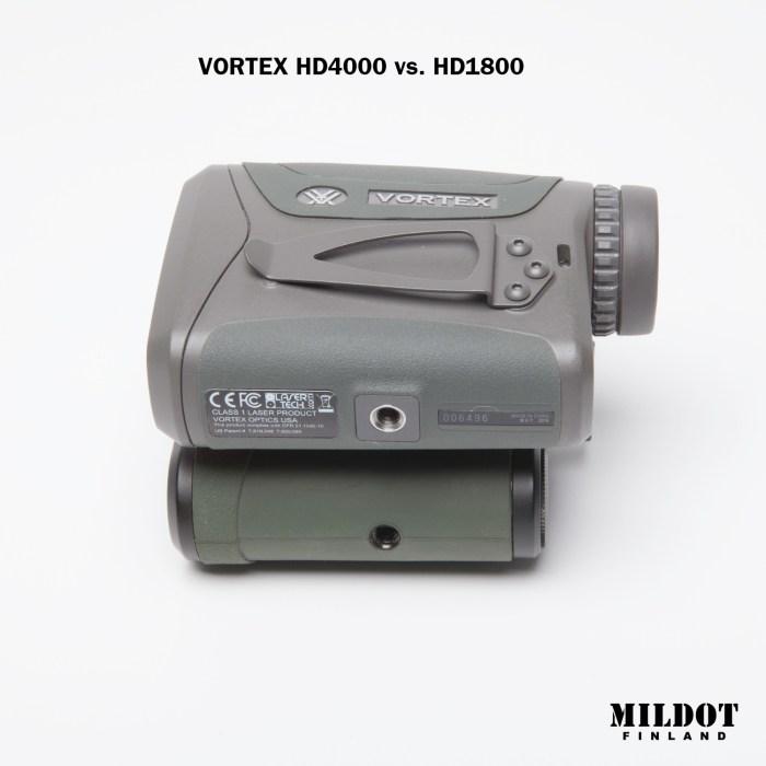 vortex hd1800 + HD4000 etäisyysmittari mildot finland
