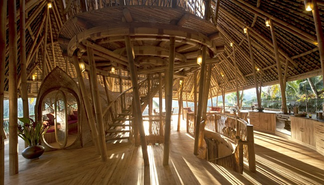 Higher-end bamboo buildings