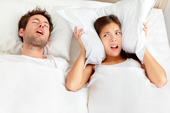 Snoring can also indicate a health problem