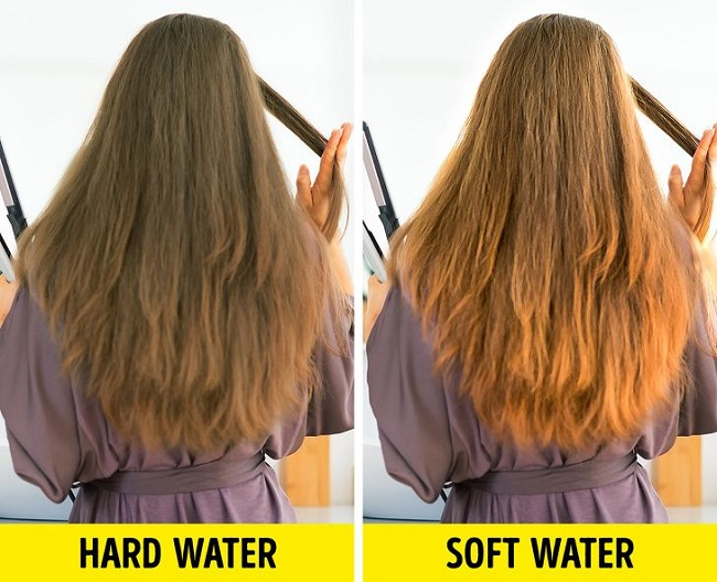 Effect of hard water and soft water on hairs