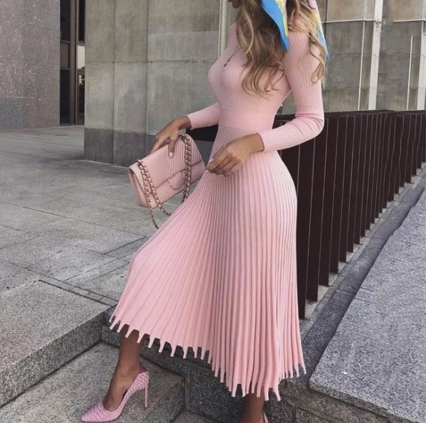 Girl in Pink dress
