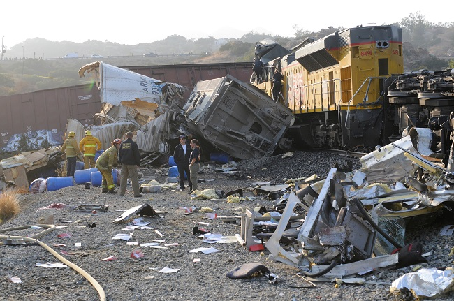 How did the trains collide