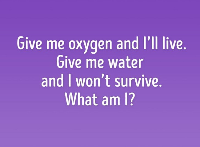 What can live with oxygen but not water