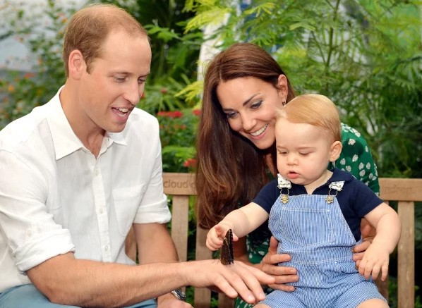 Kate middleton and prince williams with son george