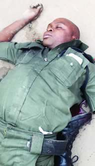BOXING DAY TRAGEDY...LAGOS POLICEMAN KILLS TWIN BROTHERS, THEIR FRIEND AND SELF!