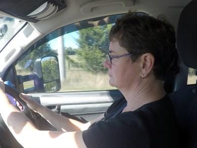 Joanne driving