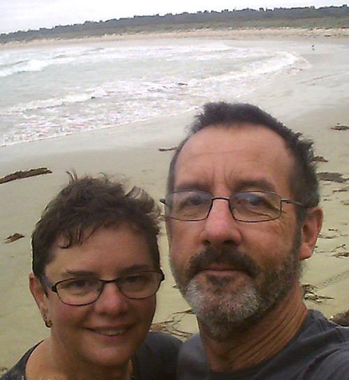 Chris and Jo on a beach