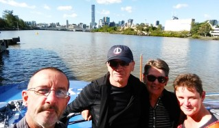Jen, Bish and us on our way to Southbank for lunch