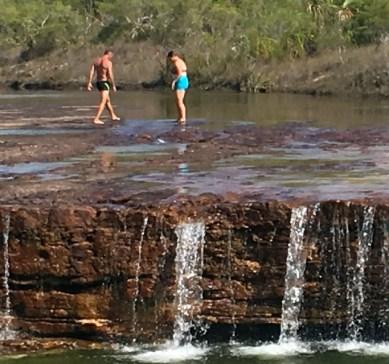 Walking around look for spa pools top of Fruit Bat Falls