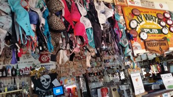This is not Lingerie section at Myers, just the front bar Daly Waters Pub