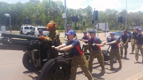 Nice guys raising money for sick kids at Royal Darwin Hospital, 1 Brigade - 8/12 Regiment