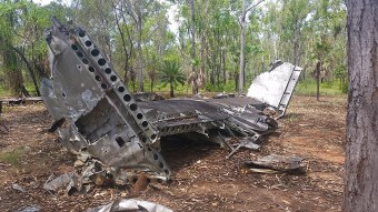 """B24-J Liberator crash site, aircraft called """"Milady"""" was on a training mission and mysteriously crashed south of Darwin. One of so many site in the NT"""