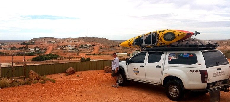 Coober Pedy city skyline, Note: you can't see all the underground buildings