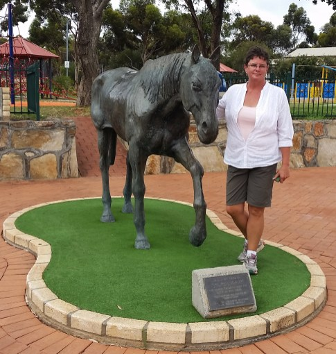 A monument to a horse that kicked a gold rock. It was enough to get a town named after it. Norseman