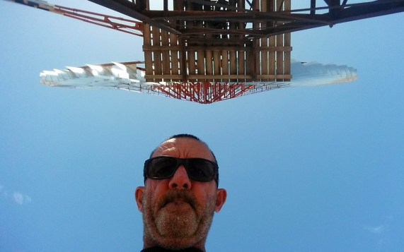 Selfie with a giant windmill