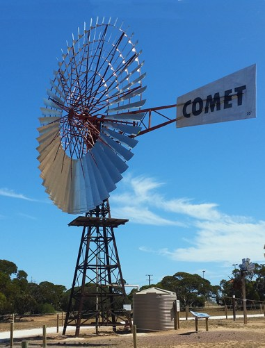 This very large windmill is called Bruce, what else would you call a very large windmill