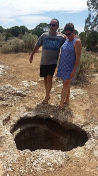 A funny little sink hole