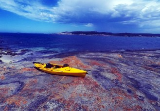 Kayak on Ben Island, that really look further than I thought