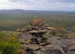 Halfway up Frenchman Peak you might find this sculpture