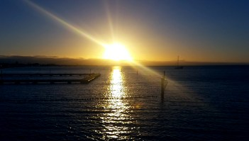 Busselton sunset, funny how here the sun sets over the coastline