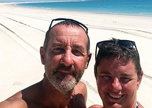 Chris and Jo at the beach