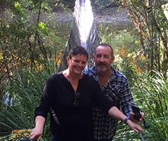 Us on Swinging bridge