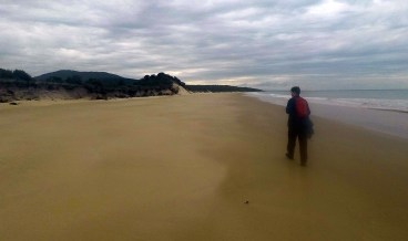 Matt walking 3 Mile Beach