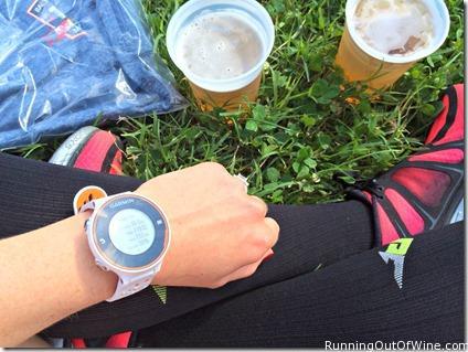 post race beer