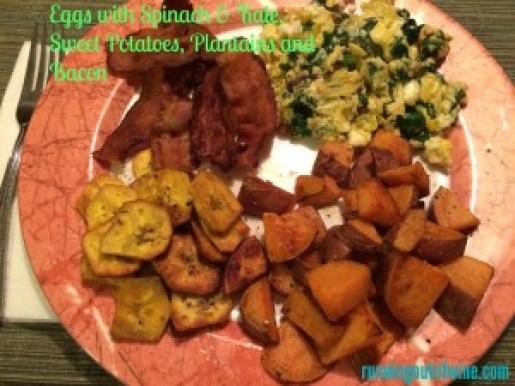 eggs bacon sp plantains