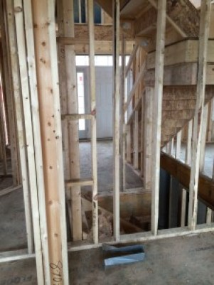 inside of house being built