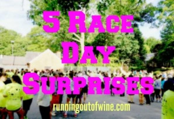 5 race day surprises