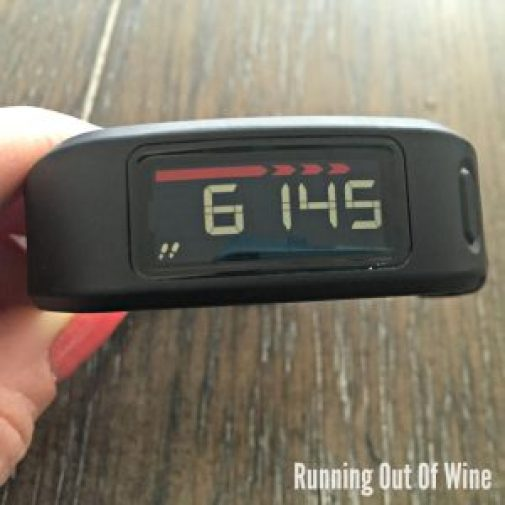 red line garmin vivofit