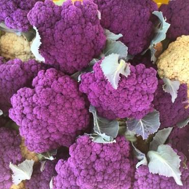 purple cauliflower is pretty and tasty