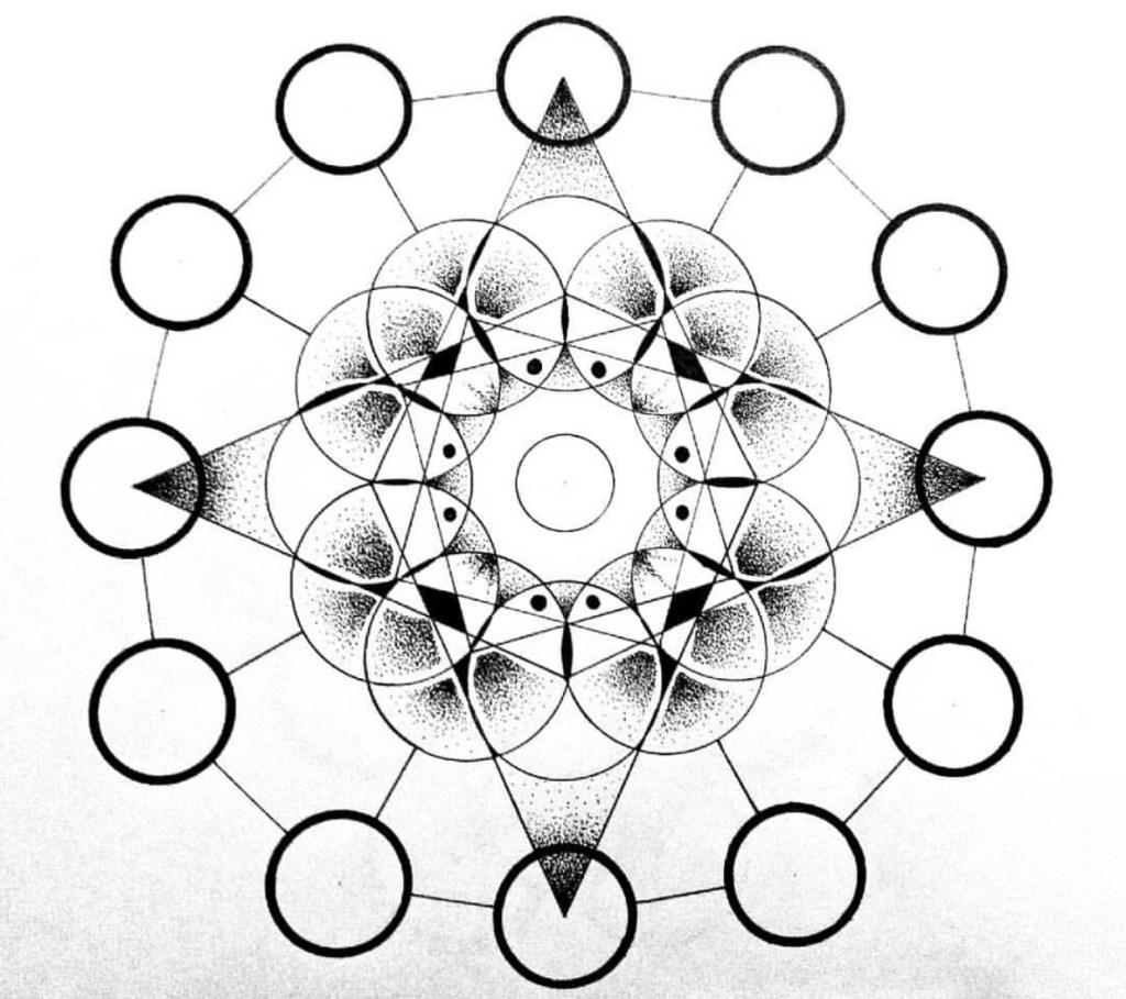 Mandala inachevé géométrique. Par Miledia Craft.