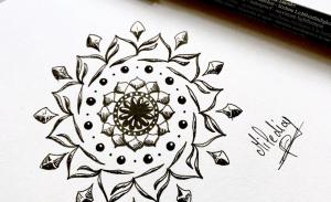 Apprendre à dessiner des mandalas par Miledia.fr #mandala #apprendreàdessiner #dessin