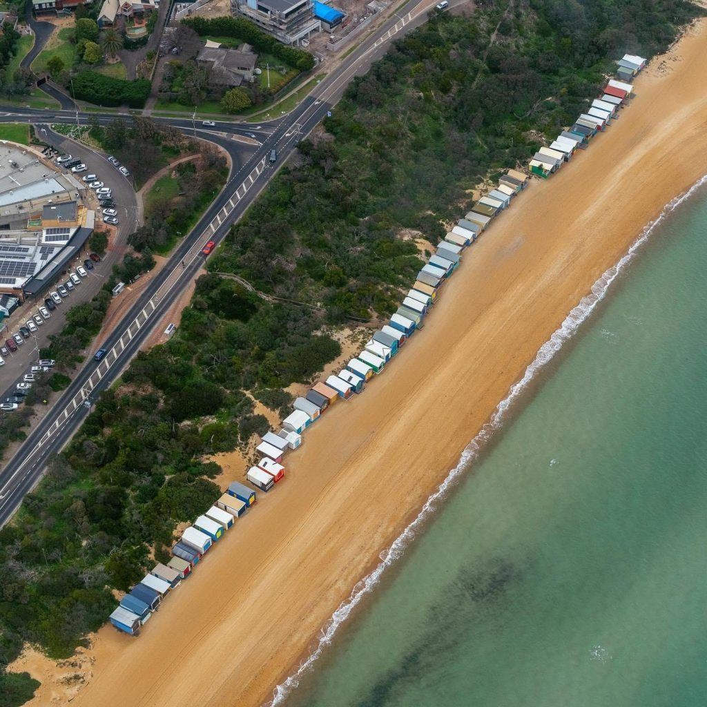 Melbourne tour, Helicopter ride, Brighton bathing box,