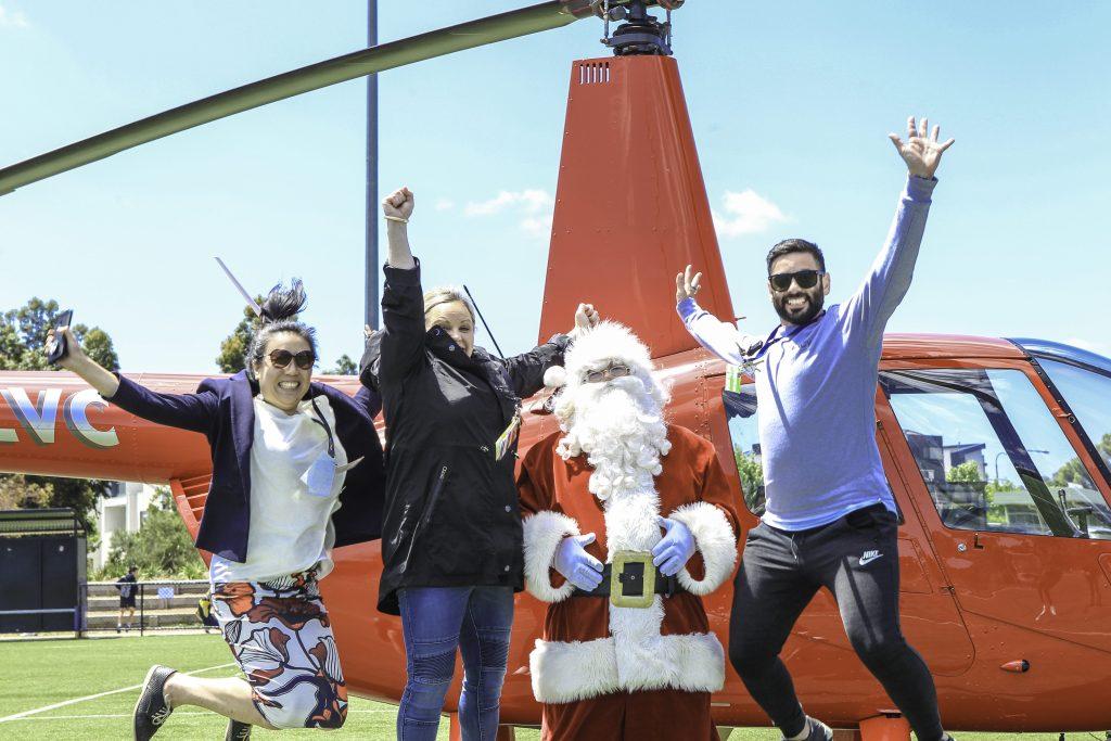 Melbourne Christmas, Melbourne Helicopter, Santa visits, Santa home visits, Santa Claus,