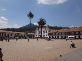 Central Plaza in the town of Zipaquirá