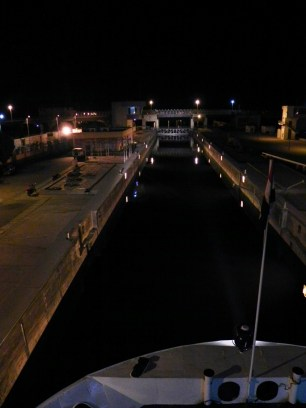 Into the locks at 2 am