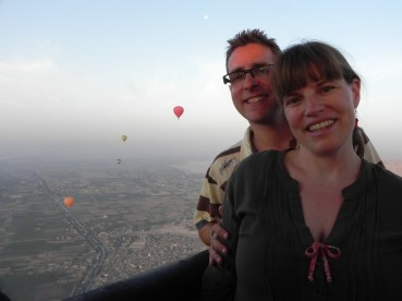 In the air over Luxor