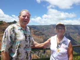 Barry & Ann at Waimea Canyon