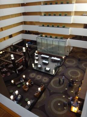 The 15th floor lobby