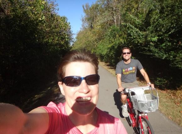 Biking selfie