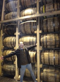 Inside the barrel room