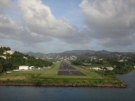 St. Lucia's tiny airport.