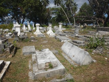 The La Digue cemetery.