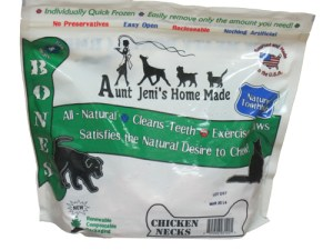 Aunt Jenis Frozen Raw Chicken Necks for Dogs